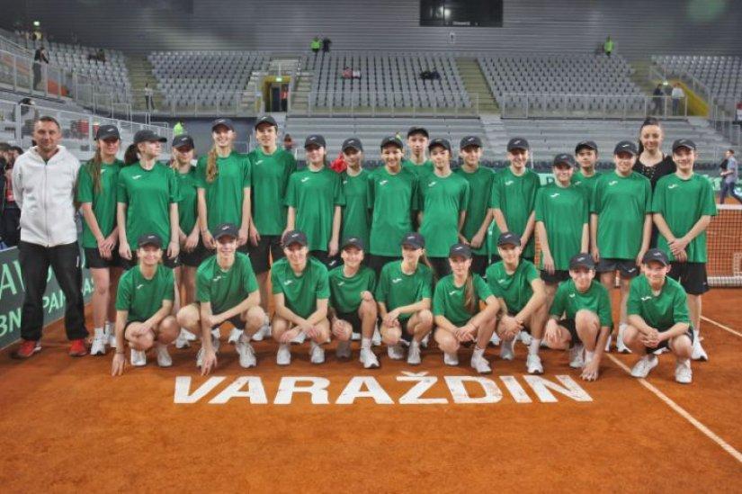 Sakupljači loptica Varteksa i Varaždina 1181 dobili pohvale od organizatora Davis Cupa